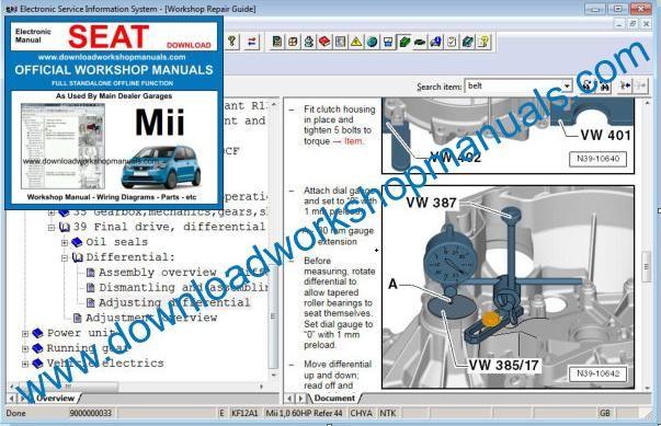 seat mii workshop repair manual