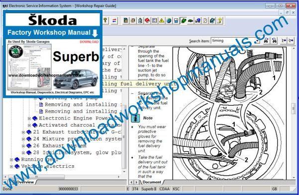 Skoda Superb Workshop Repair Manual