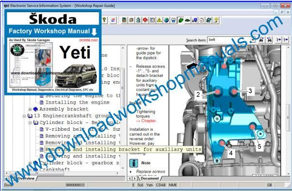 Skoda Yeti Workshop Manual
