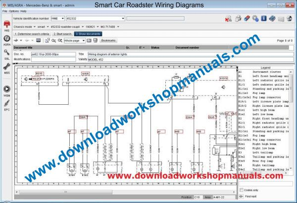 SMART CAR ROADSTER Workshop Service Repair Manual