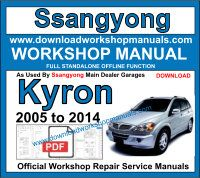Ssangyong Kyron workshop repair manual