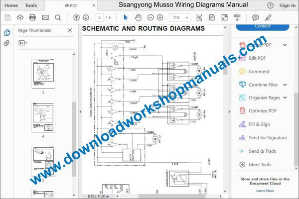 Ssangyong Musso Service Repair wiring Manual