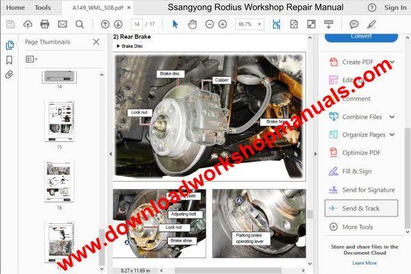 Ssangyong Rodius Service Repair Workshop Manual