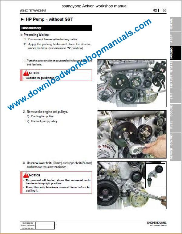 Ssangyong Actyon Workshop Repair Manual Gearbox Automatic