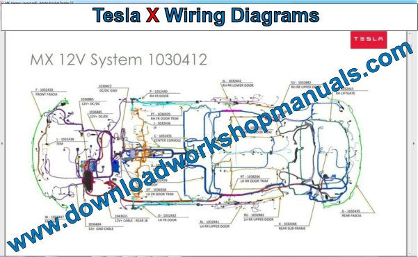 Tesla Model X Wiring Diagrams