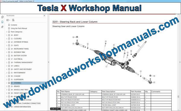 Tesla Model X Workshop manual