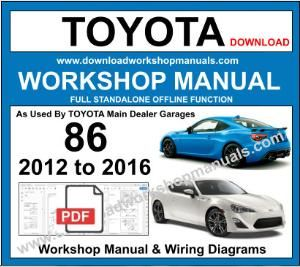 Toyota GT86 Workshop Service Repair Manual Download