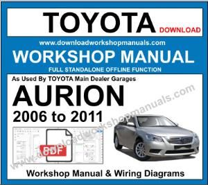 Toyota Aurion Workshop Service Repair Manual