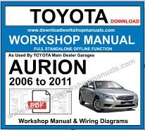 Toyota Aurion 2006  to 2011 Workshop Repair Manual