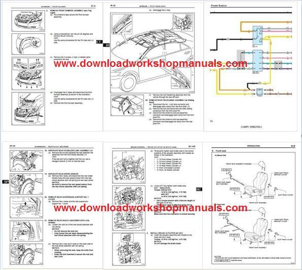 Toyota Camry Workshop Repair Manual Download