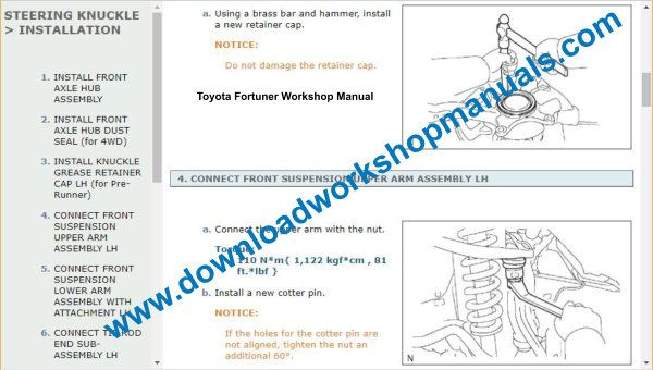 Toyota Fortuner Wiring Diagrams