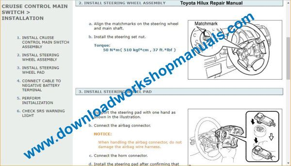 Toyota Hilux Service Manual Download