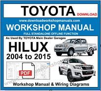 Toyota Hilux 2004 to 2015 Service Repair Workshop Manual pdf
