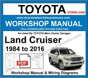 Toyota Land Cruiser Workshop Service Repair Manual