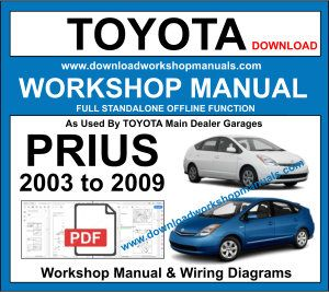 Toyota Prius Mk2 repair workshop manual