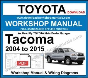 toyota tacoma workshop repair manual  workshop manuals