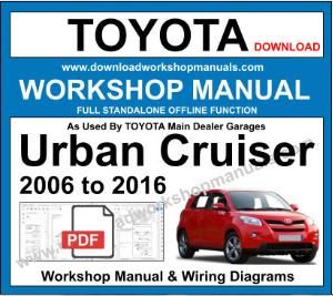 Toyota Urban Cruiser Workshop Service Repair Manual