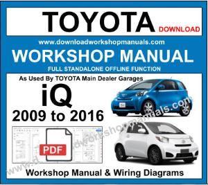 Sensational Toyota Iq Service Repair Workshop Manual Wiring Digital Resources Tziciprontobusorg