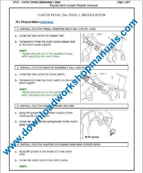 Toyota Land Cruiser Workshop Repair Manual