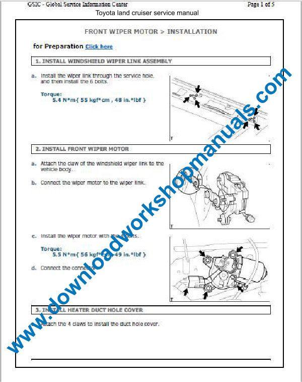 Toyota Land Cruiser Workshop Service Repair Manual Download