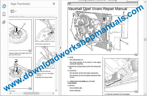 Vauxhall Vivaro repair manual