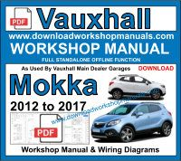 Vauxhall Mokka Service repair workshop manual