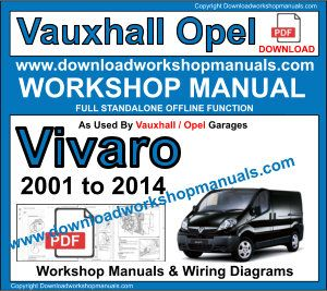Vauxhall Vivaro repair workshop manual download