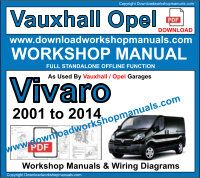 Vauxhall Vivaro service repair workshop manual download