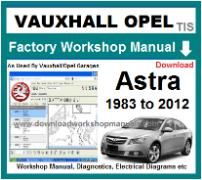vauxhall astra Workshop Manual Download