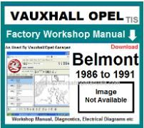 vauxhall belmont Workshop Manual Download