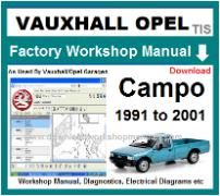 vauxhall campo Workshop Manual Download