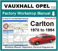 vauxhall carlton Workshop Manual Download