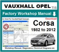 vauxhall corsa Workshop Manual Download