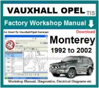 vauxhall monterey Workshop Manual Download