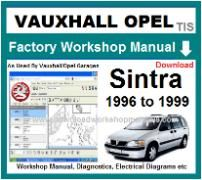 Vauxhall Sintra Workshop Manual Download