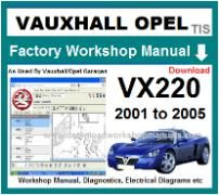 vauxhall vx220 Workshop Manual Download