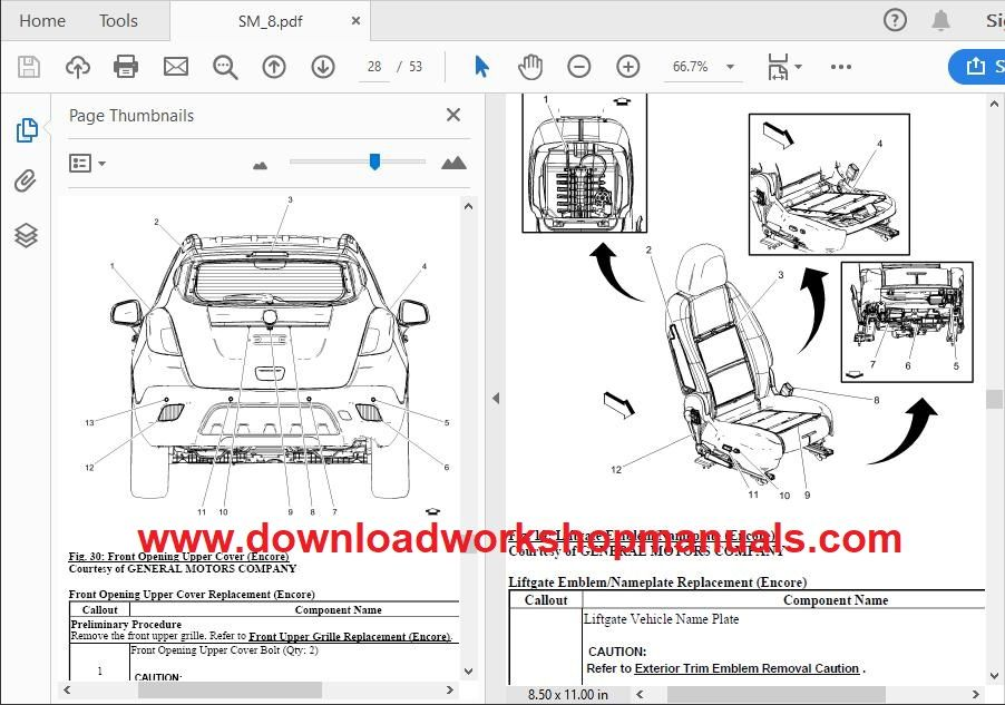 Vauxhall Mokka Repair Manual