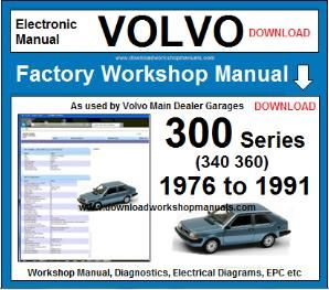 Volvo 300 Series Workshop Service Repair Manual Download