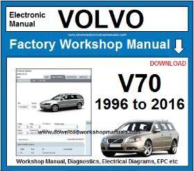Volvo V70 Workshop Service Repair Manual Download