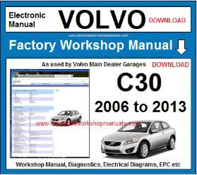 Volvo c30 workshop service repair manual