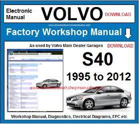Volvo S40 Workshop Service Repair Manual Download