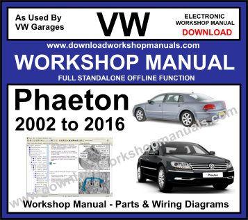 VW Phaeton Workshop Manual