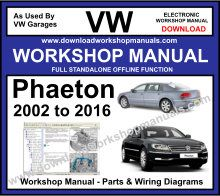 vw phaeton workshop service repair manual