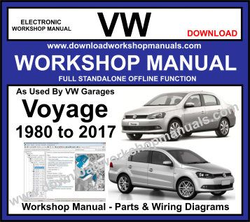 VW Voyage workshop service repair manual download