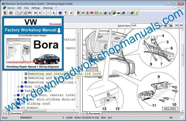 vw bora 2002 service manual
