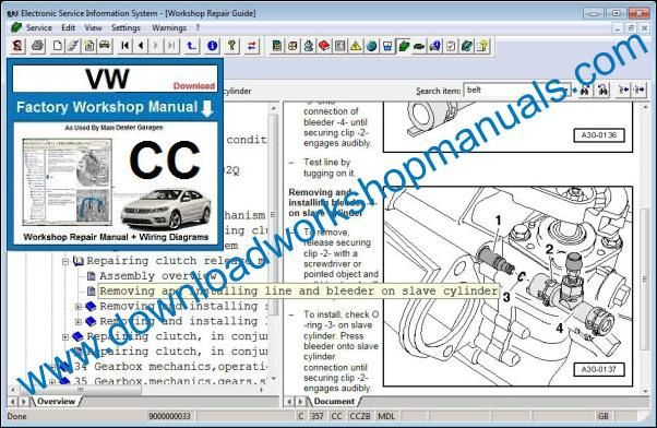 VW Volkswagen CC Repair Manual