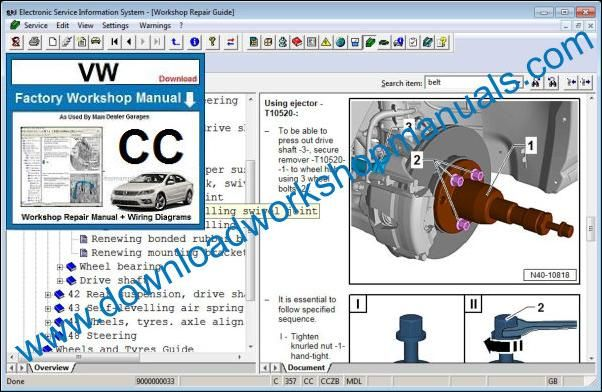VW Volkswagen CC Service Manual