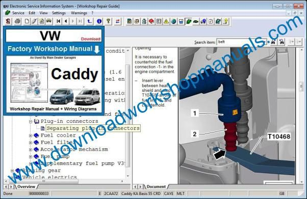 VW Volkswagen Caddy Service Manual