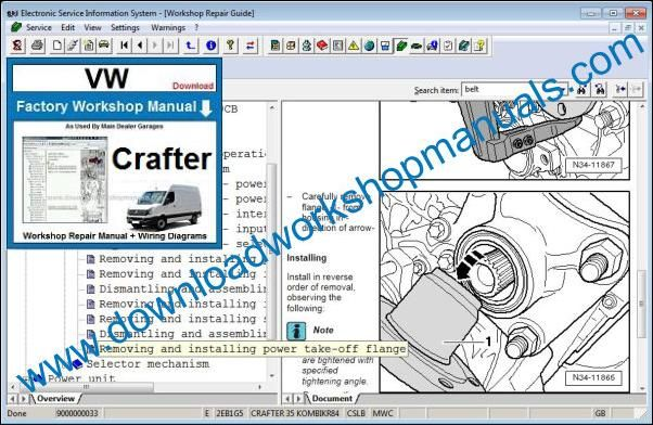 VW Volkswagen Crafter Service Manual