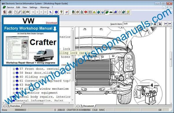 VW Volkswagen Crafter Repair Manual